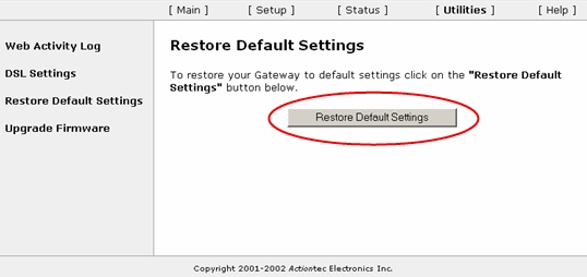 actiontec web6000q how to change settings