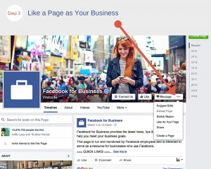 Like a Business Page as a Business on Facebook